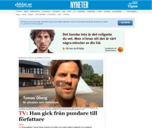 """tidningsutklipp bärgslagsbladet """"från pundare till författare"""""""